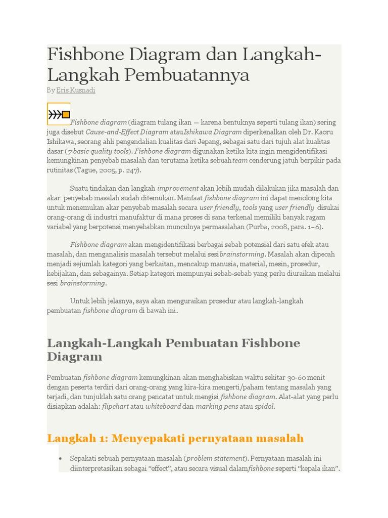 Cara buat fishbone diagram dan langkah ccuart Image collections