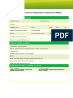 Formulario ACHS Investigacion Accidentes Trabajo ACHS