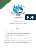yara shaheen  sara qadi mousetrap car project