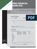 International Financial Questionnaire
