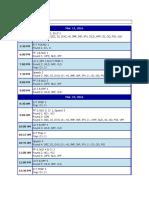 States Schedule