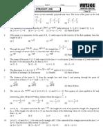 Straight Line Quiz 1