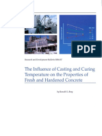 Rd113 the Influence of Casting and Curing Temperature on the Properties of Fresh and Hardened Concrete