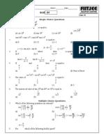 Triagometric Ratios & Identities-Quiz
