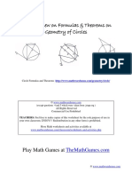 All Geometry Theorems Circles