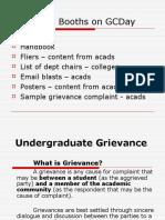 Undergraduate Grievance