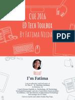 cue2016 ed tech toolbox