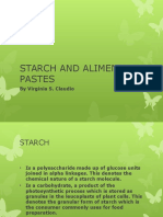 Starch and Alimentary Pastes