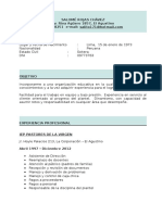 Modelo de Curriculum Vitae Clásico