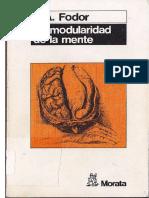 Fodor - La Modularidad de La Mente