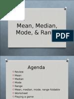 Mean Mode Median Range