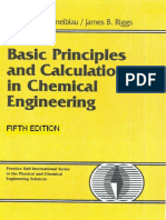 Basic Principles and Calculations in Chemical Engineering, 5th Edition