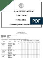 Program Semester Mtk Kelas 8
