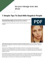 7 Astuces Simples Pour Interagir Avec Des Personnes Négatives _ DantotsuPM