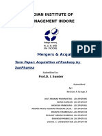 M&a Term Paper Final