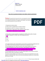 Practice Macro Economics Multiple Choice Questions