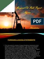 Marginal Oil Field Project Presentation - Nigeria
