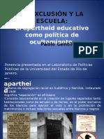 LA EXCLUSIÓN Y LA ESCUELA.ppt
