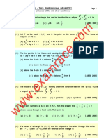Mathematics 2D Geometry MCQ