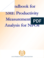 Handbook for SME Productivity Measurement and Analysis for NPOs