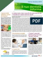 IL TUO DENTISTA INFORMA - Newsletter Marzo 2016