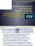 Metal Toxicity in Ayurveda