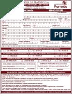 Ficha de Matrícula Pos Ucam 2015