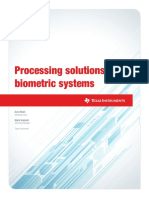 Processing Solutions for Biometric Solutions