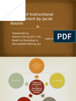 209085062 Theory of Instructional Management by Jacob Kounin