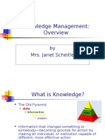 Scheitle on Knowledge Management