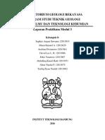 Laporan Praktikum Geologi Teknik RMR dan RQD - Kelompok 8