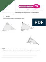 ACTIVIDADES de calculo de ángulos en triangulos 6° año clase  viernes 07-11-2014