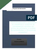 Proyecto de investigación violencia escolar