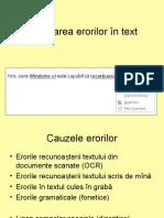 Corectarea Erorilor În Text