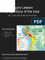pptmelanieyoung inquiry lesson origin story of the inca  2