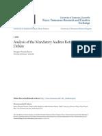 Analysis of the Mandatory Auditor Rotation Debate