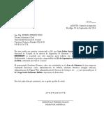 Carta de Aceptacion