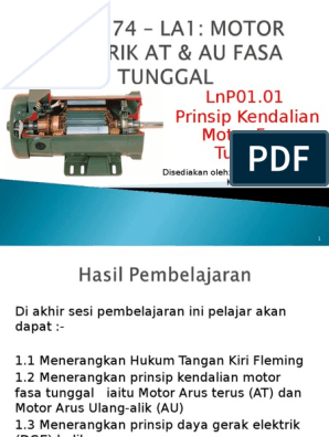 Docfoc Com Lnp01 01 Prinsip Kendalian Motor Fasa Tunggal
