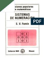 Ed MIR - Fomin - Sistemas de Numeracion (Espanhol)