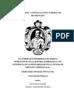 factores que determinan el riesgo operacional de la edpyme alternativa y su incidencia TL Bernal Gonzales Harry