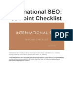 International SEO 56 Point Checklist