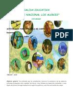 Actividades para el viaje educativo al Parque Nacional Los Alerces