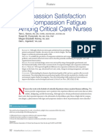 Compassion Satisfaction and Compassion Fatigue Among Critical Care Nurses