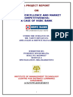 HSBC BANK Service Excellence and Market Competitiveness a Case of HSBC Bank IIPM Thesis 93p