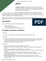 Apostolic Constitution - Wikipedia, The Free Encyclopedia