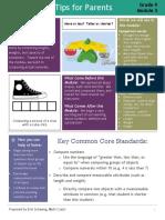 eureka math-tips for parents-grade k module 3