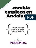 Podemos Programa Andalucía 2015