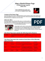 assignment - madrid home page