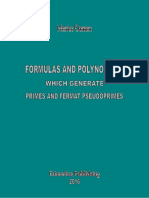 FORMULAS AND POLYNOMIALS WHICH GENERATE PRIMES AND FERMAT PSEUDOPRIMES (COLLECTED PAPERS)