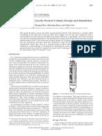 A Novel Cross-Flow Cascade Packed Column Design and Simulation